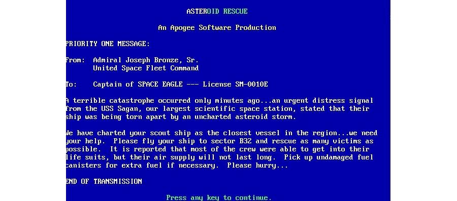 Asteroid Rescue